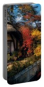 Cottage - Grannies Cottage Portable Battery Charger by Mike Savad