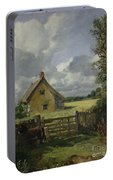 Cottage In A Cornfield Portable Battery Charger