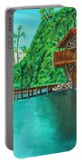 Cottage On Lake  Portable Battery Charger