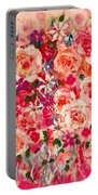 Cottage Roses Portable Battery Charger