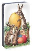 Cottontails And Eggs Portable Battery Charger