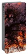 Cottonwood Sunset Silhouette Portable Battery Charger