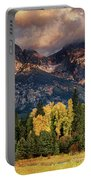 Cottonwoods Fir Trees Fall Color Grand Tetons Nat Portable Battery Charger by Dave Welling