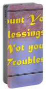 Count Your Blessings Not Your Troubles 5437.02 Portable Battery Charger
