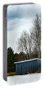 Country Barn In The Snow Portable Battery Charger