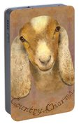 Country Charms Nubian Goat With Bright Eyes Portable Battery Charger