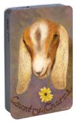 Country Charms Nubian Goat With Daisy Portable Battery Charger