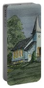 Country Church On A Summer Night Portable Battery Charger