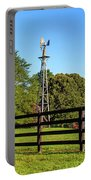 Country Farm Scene Portable Battery Charger by Doug Camara