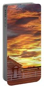 Country House Sunset Longmont Colorado Boulder County Portable Battery Charger