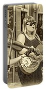 Country In The French Quarter 3 Sepia Portable Battery Charger