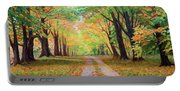 Country Lane - A Walk In Autumn Portable Battery Charger