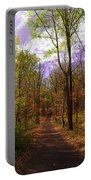 Country Road In Autumn Portable Battery Charger