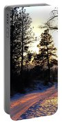 Country Road Sunset Portable Battery Charger