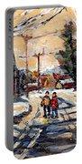 Purchase Best Original Quebec Winter Scene Paintings Achetez  Paysage De Quebec Cspandau Art Portable Battery Charger