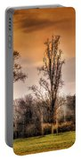 Countryscape With Bell Tower Portable Battery Charger