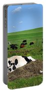 Countryside Cows Portable Battery Charger