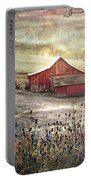 County Farm In Fall Portable Battery Charger