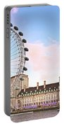 County Hall And London Eye Portable Battery Charger