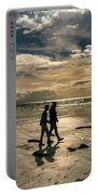 Couple In Golden Beach Portable Battery Charger