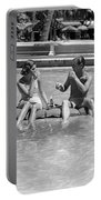 Couple Relaxing In Pool, C.1930-40s Portable Battery Charger