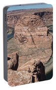 Couple Viewing Horseshoe Bend High Up Edge  Portable Battery Charger