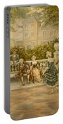 Couples On Veranda Of Chateau Portable Battery Charger