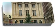 Courthouse At Christmas Portable Battery Charger
