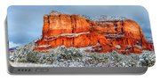 Courthouse Butte And Bell Rock Under Snow Portable Battery Charger