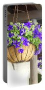 Courtyard Petunias Portable Battery Charger