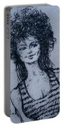 Cove Girl With Striped Shirt Portable Battery Charger