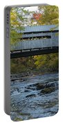 Covered Bridge Over Brown River Portable Battery Charger