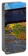 Covered Bridge Over The Cold River Portable Battery Charger