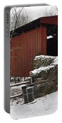 Covered Bridge Over The Wissahickon Creek Portable Battery Charger by Bill Cannon