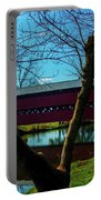 Covered Bridge Vivid Afternoon Portable Battery Charger