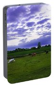 Cow Field Portable Battery Charger