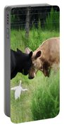 Cow Playing Head Games Portable Battery Charger