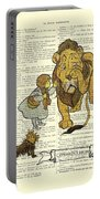 Cowardly Lion, The Wizard Of Oz Scene Portable Battery Charger