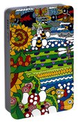 Cowbirds Portable Battery Charger by Rojax Art