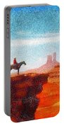 Cowboy At Monument Valley In Utah - Da Portable Battery Charger