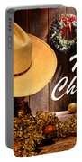 Cowboy Christmas Party - Merry Christmas Portable Battery Charger