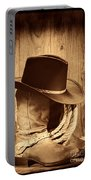 Cowboy Hat On Boots Portable Battery Charger