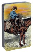 Cowboy N Sunset Portable Battery Charger