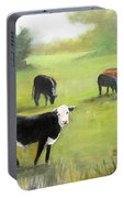 Cows In Pasture Portable Battery Charger