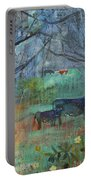 Cows In The Olive Grove Portable Battery Charger