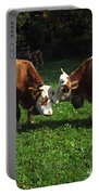 Cows Nuzzling Portable Battery Charger