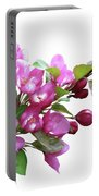 Crabapple Blossoms Portable Battery Charger