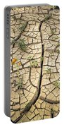 317805-cracked Mud Patterns  Portable Battery Charger