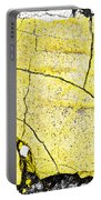 Cracked Yellow Paint Portable Battery Charger