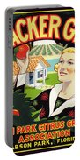 Cracker Girl Citrus Crate Label C. 1920 Portable Battery Charger